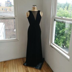 NW NightWay Black Dress with Mesh Size 4